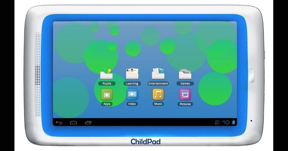 5.mar.2012 - O Child Pad é um tablet para crianças lançado pela Archos que custa US$129 (cerca de R$223,70). O gadget vem com o sistema Android, 1GB de memória RAM e acesso à parte infantil da AppLibs, loja online com mais de 10 mil jogos, livros e aplicativos para os pequenos