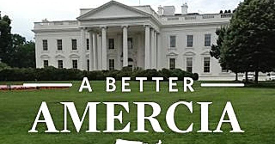 """Aplicativo do pré-republicano Mitt Romney com erro na grafia de """"America"""""""