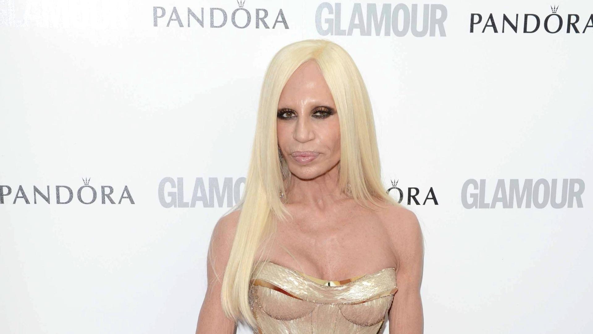 Donatella Versace prestigia o Glamour Women of The Year, premiação realizada pela revista