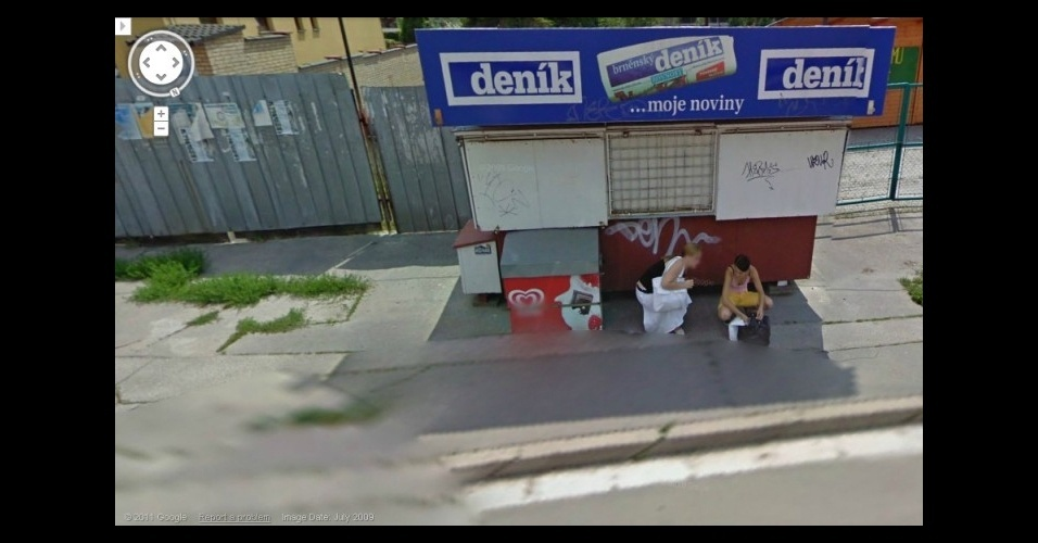Galeria com flagras do Google Street View