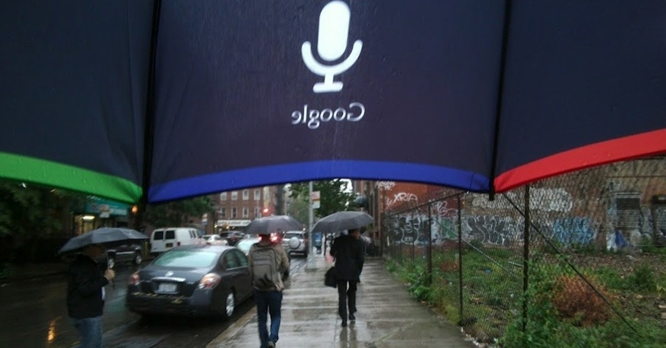 Imagem divulgada pelo Google do par de óculos Project Glass