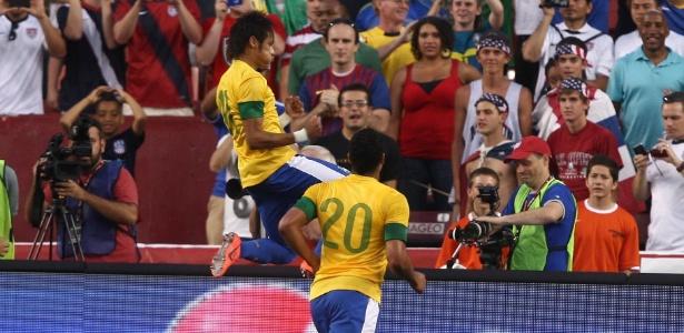 De pênalti, Neymar abriu o caminho para a vitória do Brasil sobre os EUA em amistoso