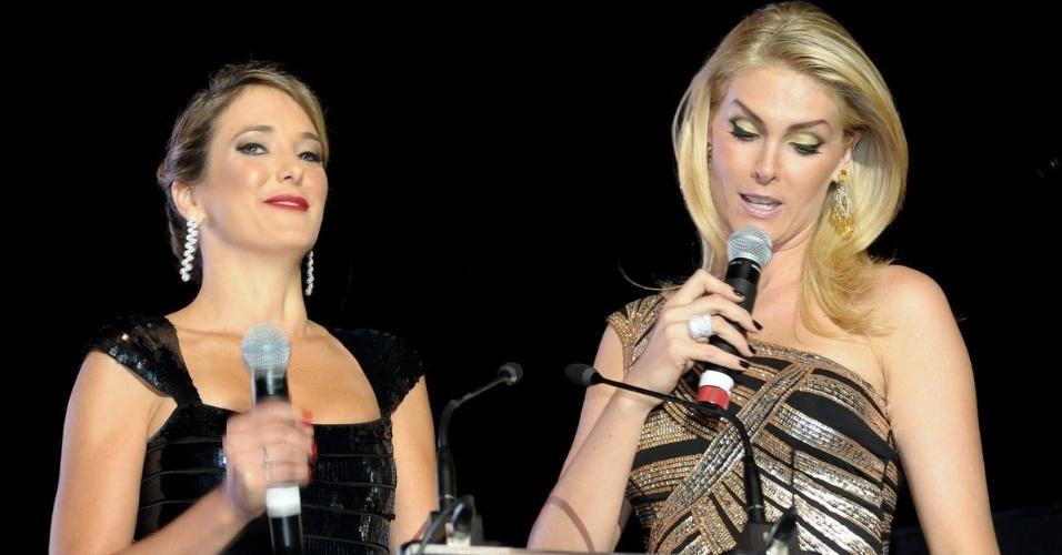 Ticiane Pinheiro e Ana Hickmann apresentam evento beneficente promovido por Roberto Justus e convidados em São Paulo (29/5/12)