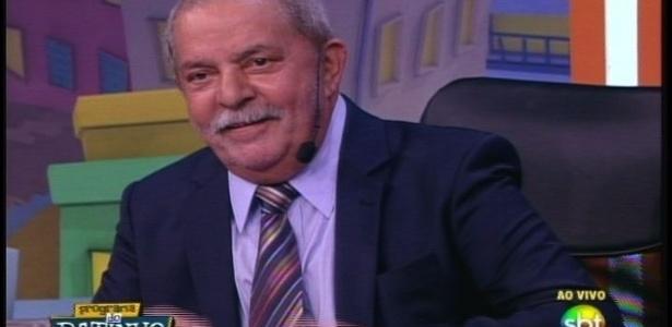 Ex-presidente Luiz Inácio Lula da Silva participa do Programa do Ratinho, no SBT, em São Paulo - Reprodução