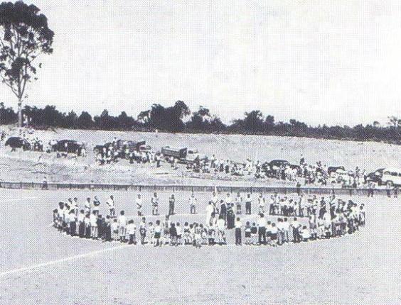 Inauguração do campo do Lausanne Paulista, nos anos 60