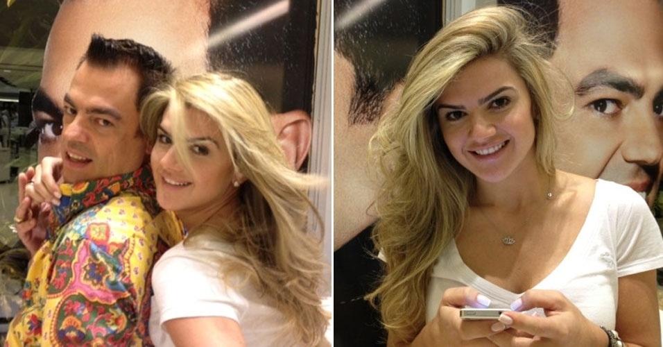 Mirella Santos tinge os cabelos um dia antes de seu casamento