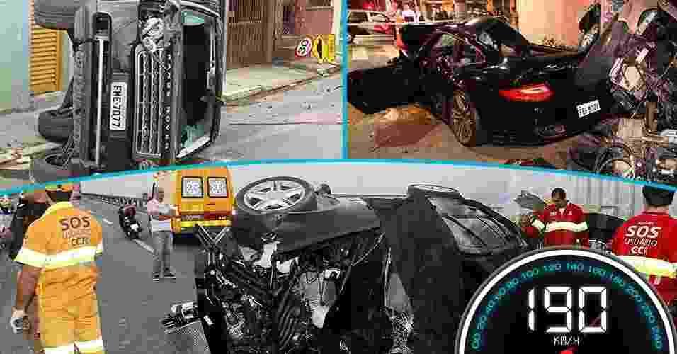 Nos últimos meses tornaram-se frequentes os acidentes causados por motoristas que trafegavam em alta velocidade. A reportagem do UOL Notícias selecionou 11 casos recentes de tragédias causadas por motoristas que abusaram do acelerador - Arte UOL