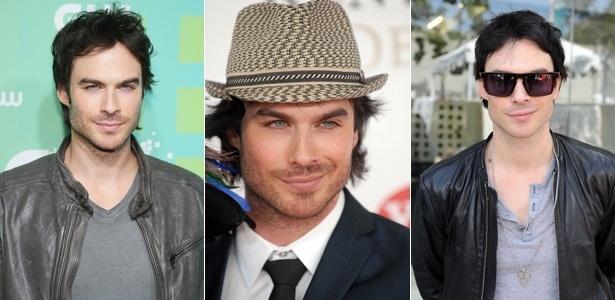 "O estilo do ator Ian Somerhalder, de ""Vampire Diaries"", inclui chapéus, jaquetas de couro e acessórios - Getty Images"