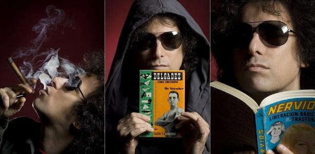 """O músico argentino Andrés Calamaro é uma das opções de músicos que podem ser """"exportados"""" na Argentina - Fotomontagem/Divulgação"""