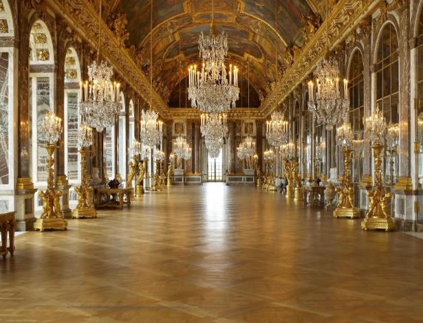 Imagem do Palácio de Versalhes, na França - Reprodução