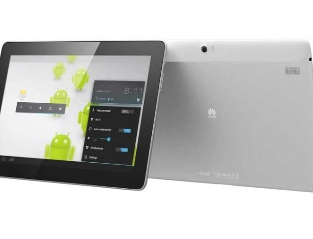 29.fev.2012 - Um dos primeiros tablets com processador quad-core (quatro núcleos) é o Ascend MediaPad 10 da Huawei. Além do processador ultraveloz de 1,5 Ghz chamado K3, o MediaPad tem tela de 10 polegadas padrão IPS e resolução de 1920x1200. O tablet tem 8,8 milimetros de espessura e pesa 600g. Vem ainda com câmera de 8 megapixels