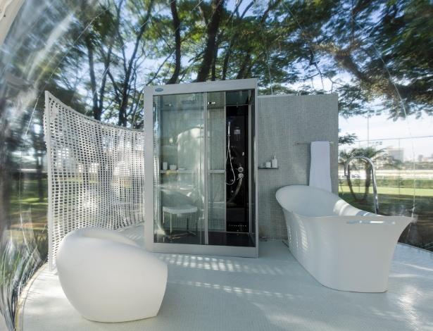 O arquiteto e designer Léo Shehtman projetou para a Casa Cor SP 2012 o Loft Bolha, com três ambientes - Kátia Kuwabara/UOL
