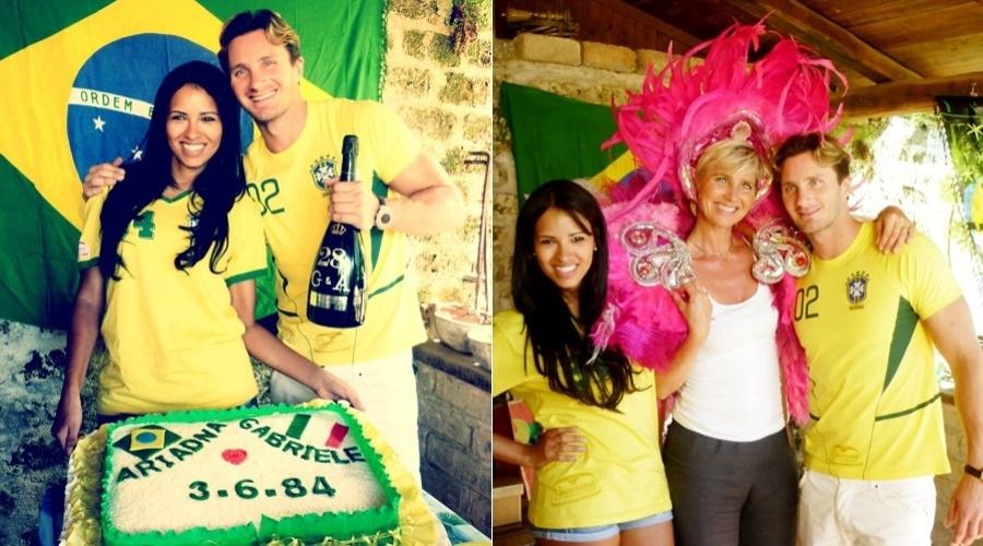 A ex-BBB Ariadna completou 28 anos no último domingo, Nesta segunda ela divulgou as imagens da comemoração (4/6/12)