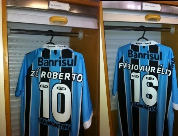 Camisas já esperam Zé Roberto e Fábio Aurélio no Grêmio (04/06/2012)