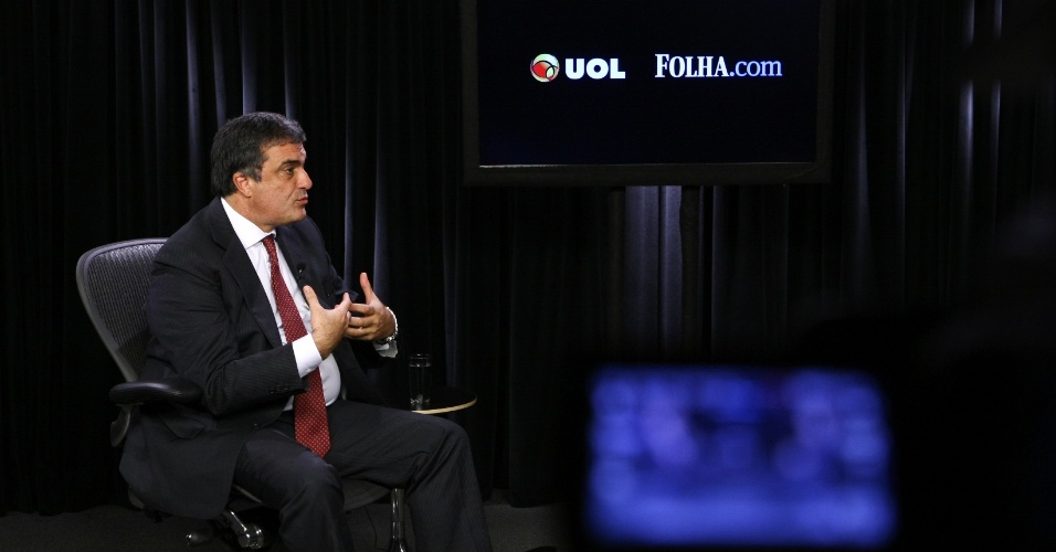 O ministro da Justiça, José Eduardo Cardozo, participou do Poder e Política, projeto do UOL e da Folha, em 4 de junho de 2012.