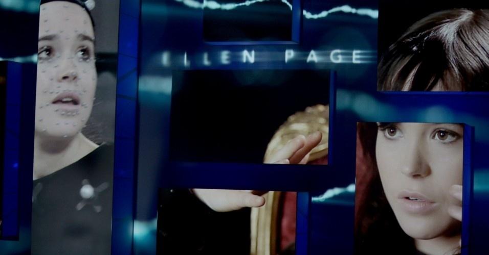 A atriz Ellen Page, famosa por