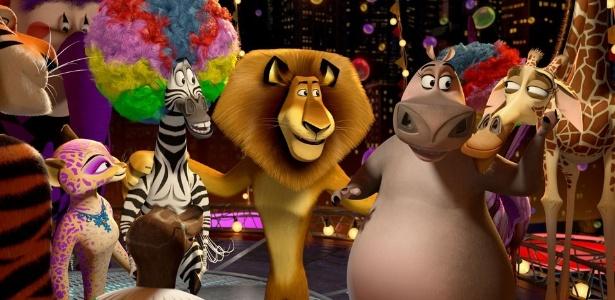 Cena da animação Madagascar 3: Os Procurados