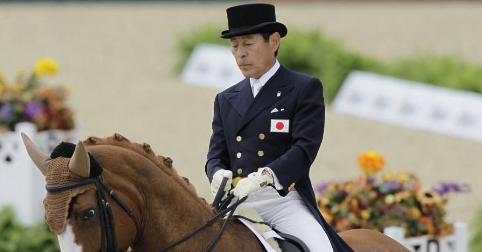 Hiroshi Hoketsu, 71 anos, o atleta mais velho dos Jogos de Londres