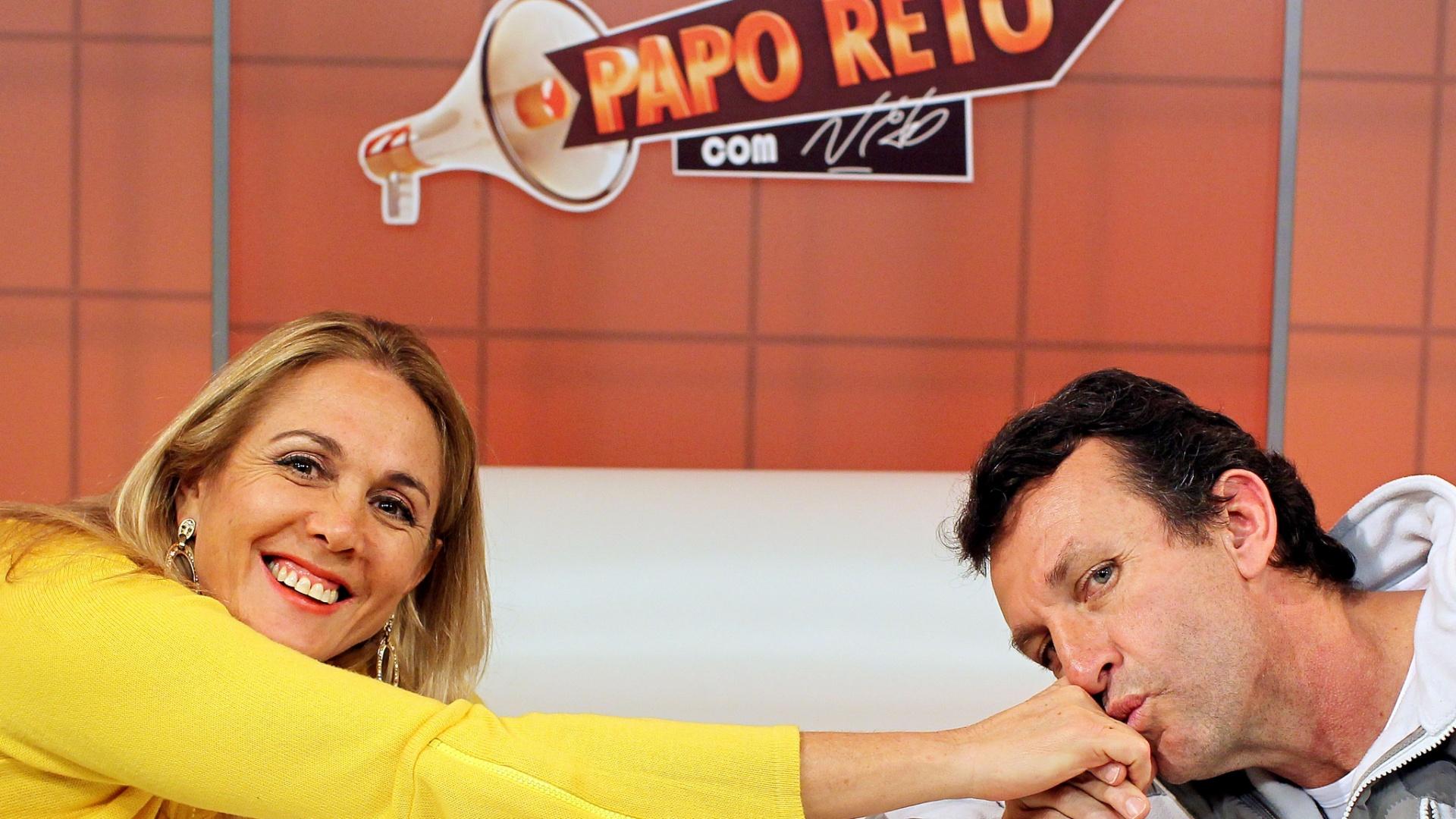 Neto recebeu Hortência nesta terça-feira; ex-jogadora de basquete foi a entrevistada do programa Papo Reto (05/06/2012)