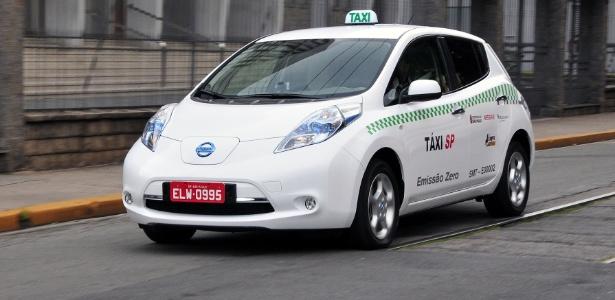 Nissan descarta planos de fabricar localmente o Leaf, que já é táxi em SP e no Rio - Divulgação