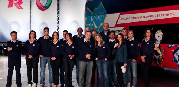 Parte da equipe da Record que foi a Londres para os Jogos Olímpicos de 2012