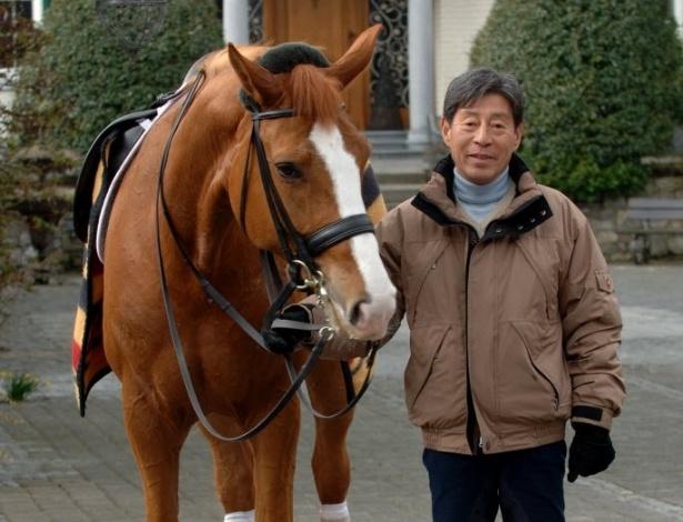 Whisper, a égua que esteve com o veterano olímpico em 2008 e repete a dose agora