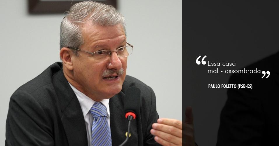 """5.jun.2012 - """"Essa casa mal-assombrada"""", disse o deputado Paulo Foletto, sobre imóvel vendido pelo governador do Espírito Santo, Marconi Perillo (PSDB)"""