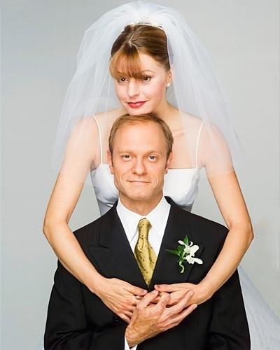 Casamento de David Hyde Pierce e Jane Leeves na série
