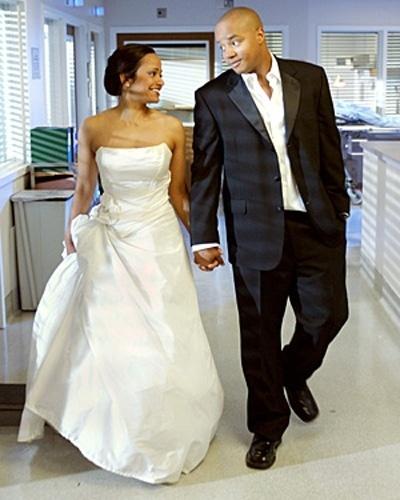 Casamento de Donald Faison com Judy Reyes na série