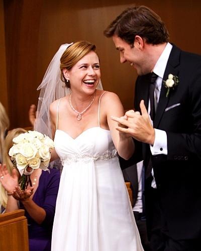 Casamento de Jenna Fischer e John Krasinski na série