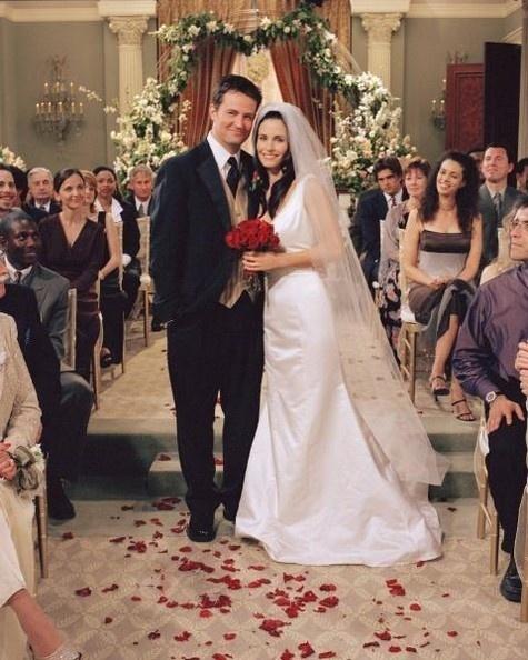 Casamento de Matthew Perry com Courtney Cox na série