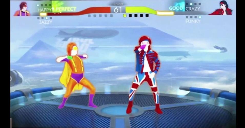 """Em """"Just Dance 4"""", jogador com Wii U Gamepad faz o papel de coreógrafo"""