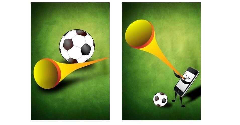 O aplicativo Vuvuzela World Cup Horn Plus (Android) relembra as cornetas da Copa do Mundo de 2010 na África do Sul. Pela bagatela de R$ 407,64, o usuário do sistema Android poderá ter o barulho de uma vuvuzela em seu smartphone