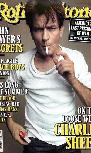 O ator Charlie Sheen é capa da edição de junho da revista