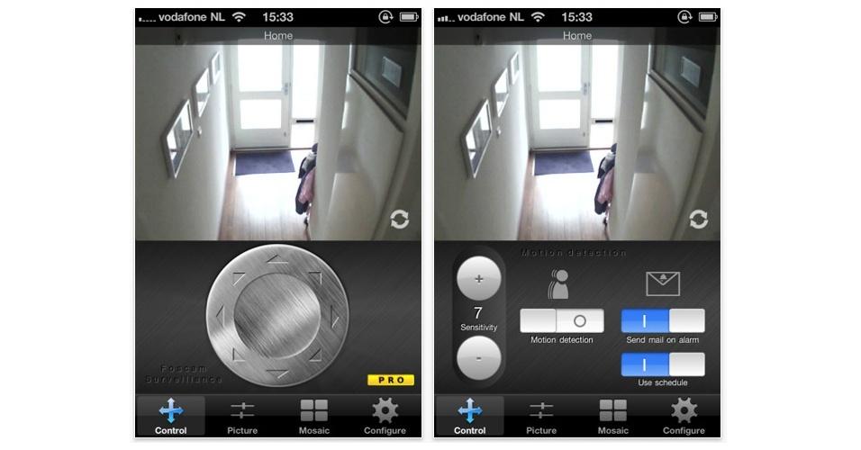 O Foscam Surveillance Pro, de US$ 4,99, realiza praticamente o mesmo serviço por um preço mais baixo e uma interface mais amigável. Ele é compatível com diversos equipamento de marcas diferentes