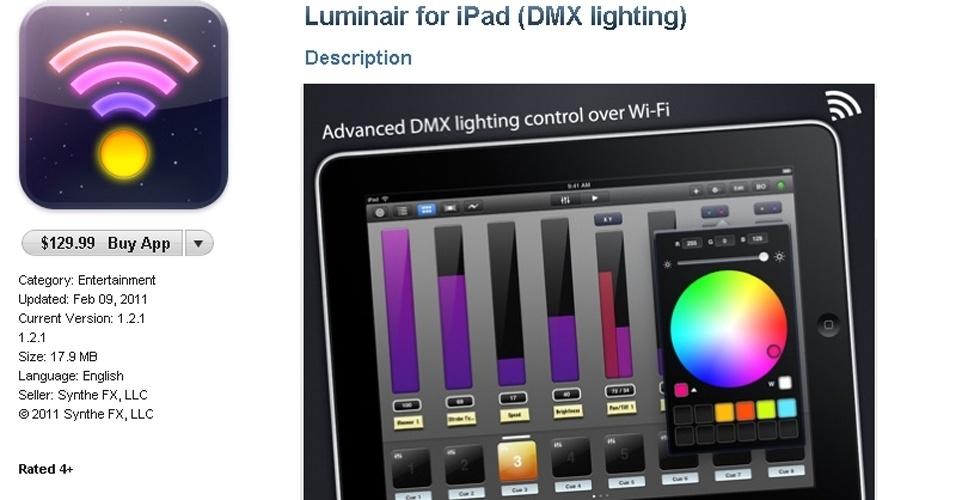 O Luminair (iOS, da Apple) é uma ferramenta útil para profissionais de vídeo