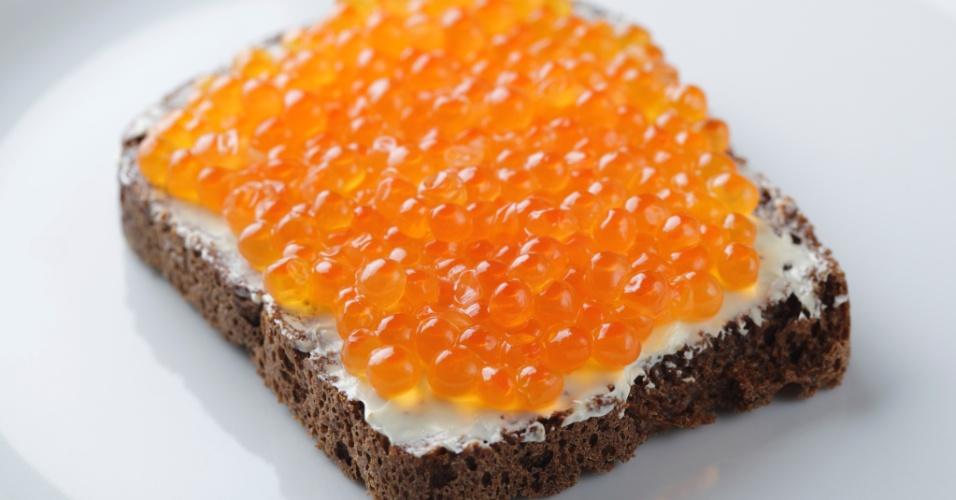 pão com caviar