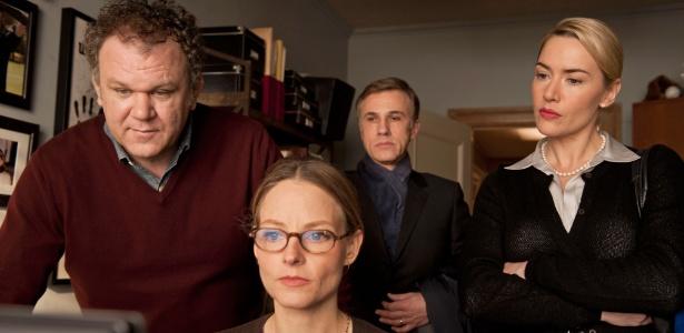 John C. Reily, Jodie Foster, Christoph Waltz e Kate Winslet em cena de Deus da Carnificina, de Roman Polanski