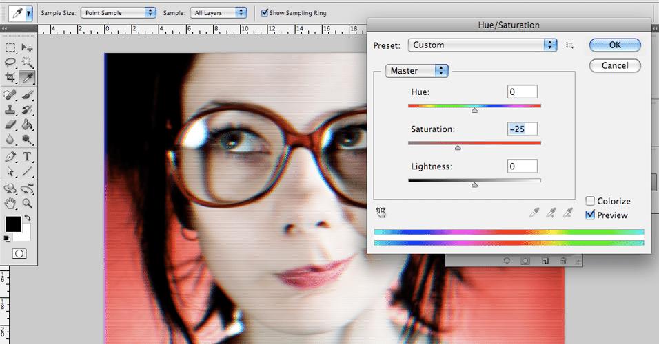 Tutorial - Recursos do Photoshop permitem imitar efeito de TV antiga