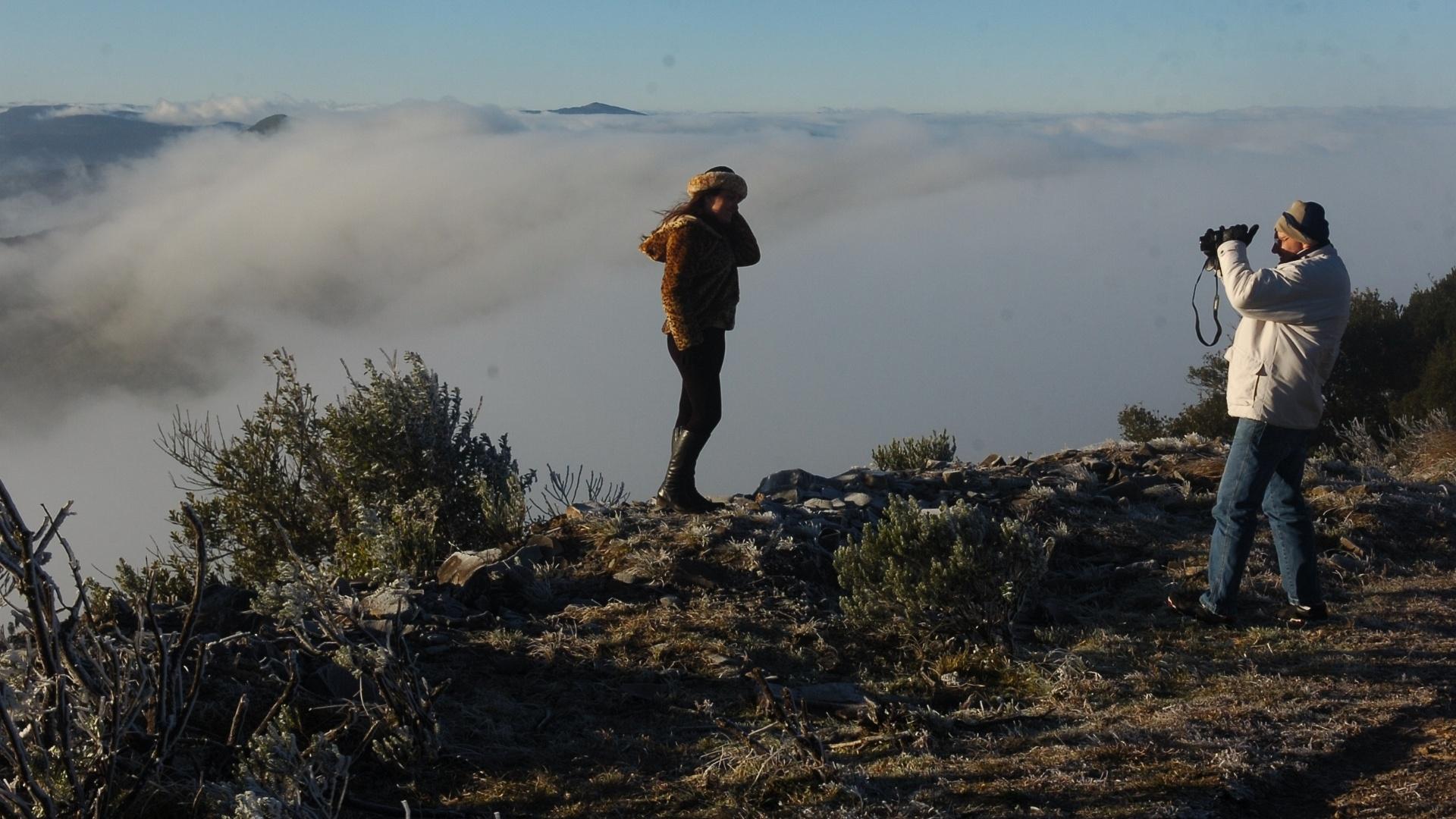 8.jun.2012 - Frio extremo atrai turistas à região da Serra Catarinense (na foto, cidade de Urupema)