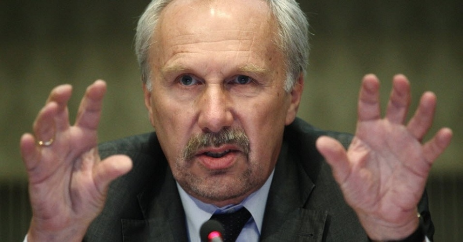 8.jun.2012 - Membro do Conselho de Governo do Banco Central Europeu, Ewald Nowotny
