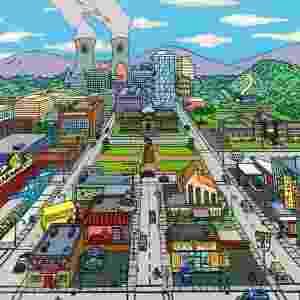 A paisagem de Springfield, com a Usina Atômica do Sr. Burns ao fundo - Divulgação - FOX