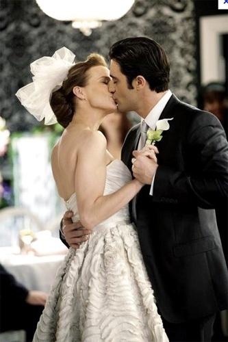 Casamento de Sarah Walker (Rachel Griffiths) com Luc Laurent (Gilles Marini) na série