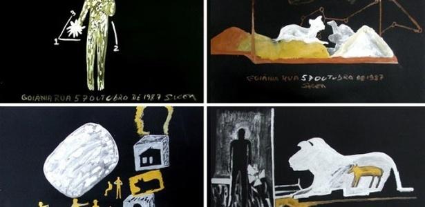 O acidente em Goiânia gerou, entre outros protestos, uma série de obras do artista plástico goiano Siron Franco sobre o tema - Reprodução
