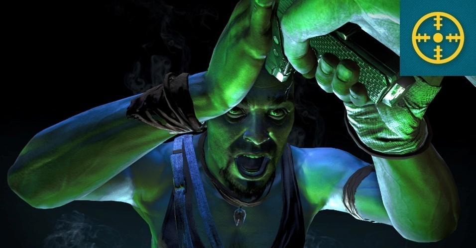 """SHOOTER - VENCEDOR: """"Far Cry 3"""" promete ampliar a série de tiroteio em mundo aberto em múltiplos aspectos, trazendo melhores gráficos, todo um arquipélago a explorar, sistema de cobertura, multiplayer cooperativo e até mesmo um editor de mapas."""