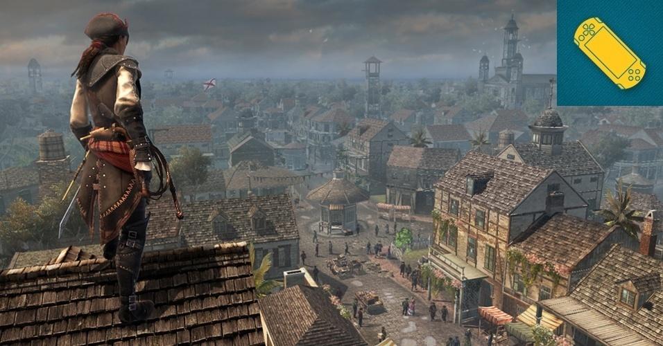"""PS VITA - VENCEDOR: O game traz Aveline, a primeira protagonista mulher da saga da Ubisoft, e leva a ação da batalha entre assassinos e templários para o portátil. """"AC: Liberation"""" se passa na mesma época """"Assassin's Creed 3"""", mas se foca na independência de Nova Orleans dos espanhóis."""