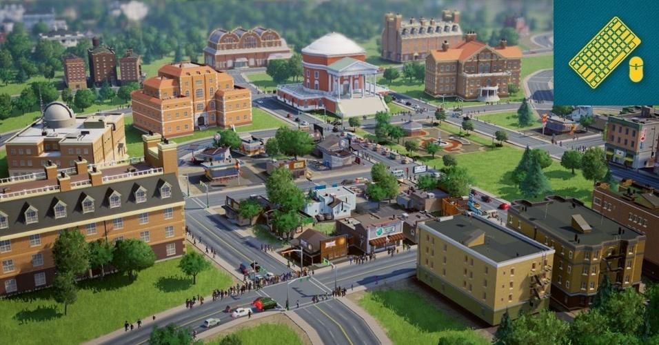 """PC - VENCEDOR: O maior simulador de cidades e um dos maiores jogos de gerenciamento já criados aposta na relação constante entre cidades de diferentes jogadores. """"SimCity"""" permite a troca de tecnologias entre gamers e colaboração para a criação de obras gigantescas."""