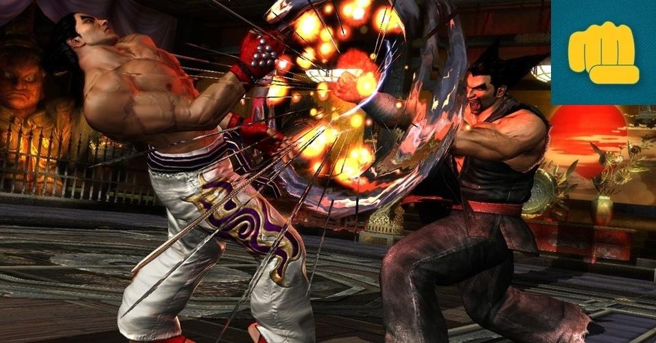 """LUTA - MENÇÃO HONROSA: """"Tekken Tag Tournament 2"""" chega mais de uma década após o primeiro título para os fliperamas e o PlayStation 2 e traz novos combates entre duplas com jogadores que podem ser trocados a qualquer momento e gráficos arrebatadores."""