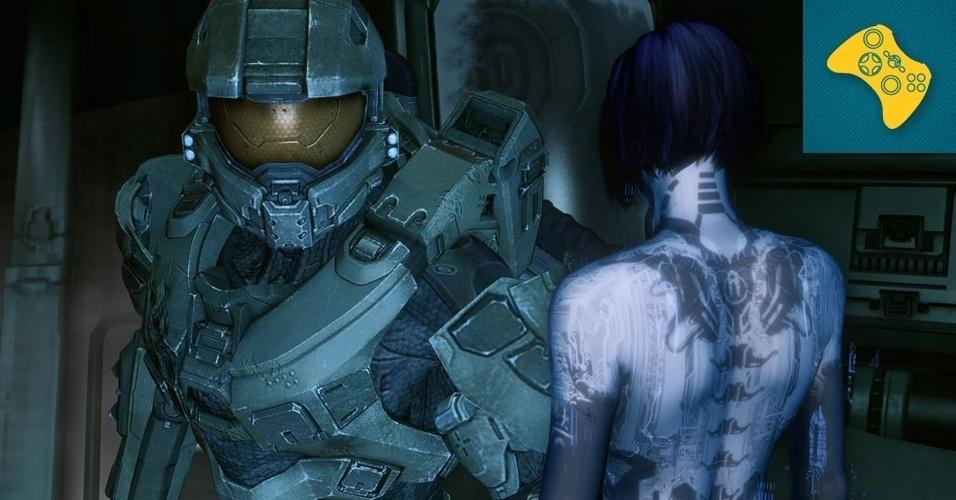 """XBOX 360 - VENCEDOR: Carro-chefe do videogame, """"Halo 4"""" mostrou gráficos impressionantes e revelou um pouco do que o futuro reserva ao finalmente trazer a saga de Master Chief de volta à série enquanto ele enfrenta uma nova ameaça alienígena."""