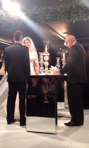 David Brazil mostra, no Twitter, foto do casamento de Dani Souza e Dentinho na Casa Petra Moema, em São Paulo (9/6/2012)
